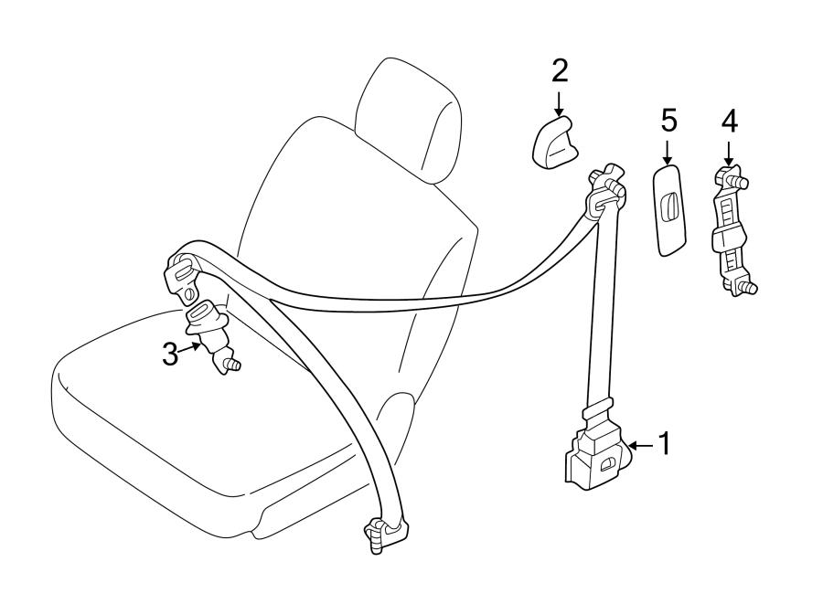 Mazda MPV Seat Belt Lap and Shoulder Belt (Rear). BUCKET