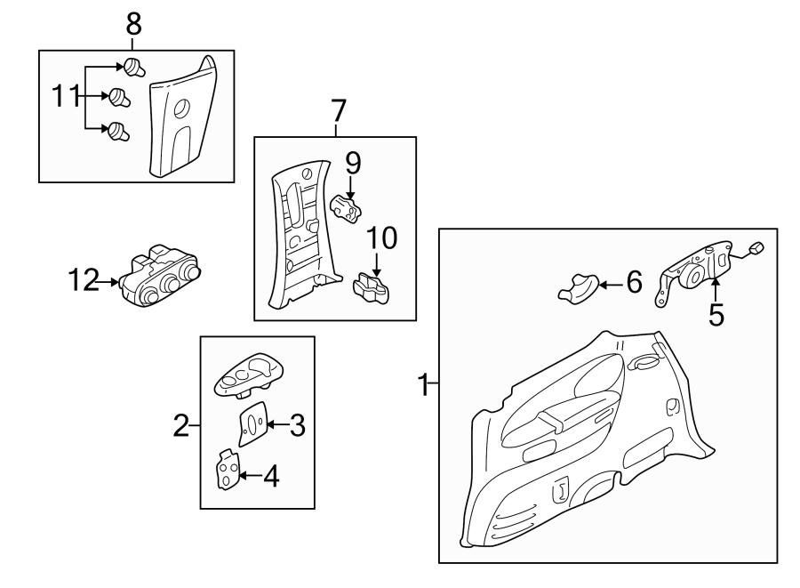 Mazda MPV Body C-Pillar Trim Panel (Right, Upper