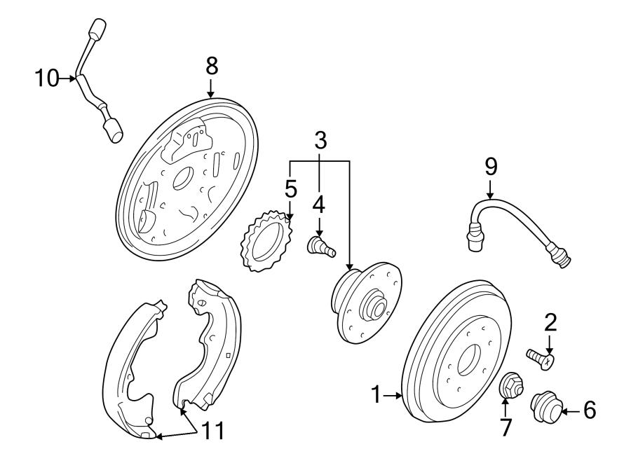 Mazda MPV Wheel Bearing and Hub Assembly. Rear, SUSPENSION