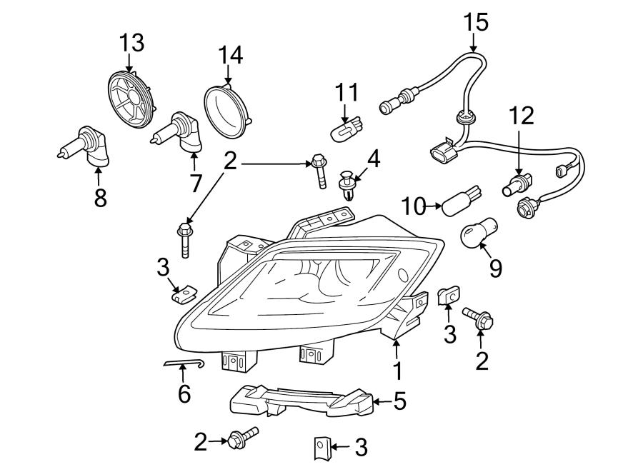 Mazda CX-9 Headlight Wiring Harness. HALOGEN, 2010-12