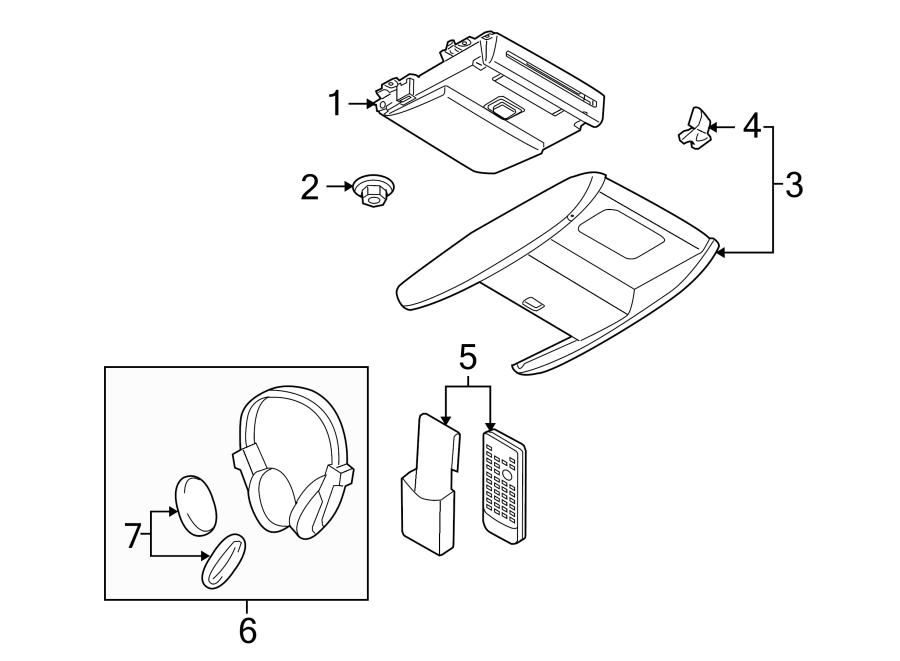 Mazda CX-9 Headphone pad. PAD, HEADPHONE. Included with