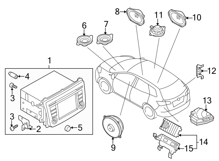 Mazda CX-9 Radio Bracket. 2013-15. A bracket for a radio