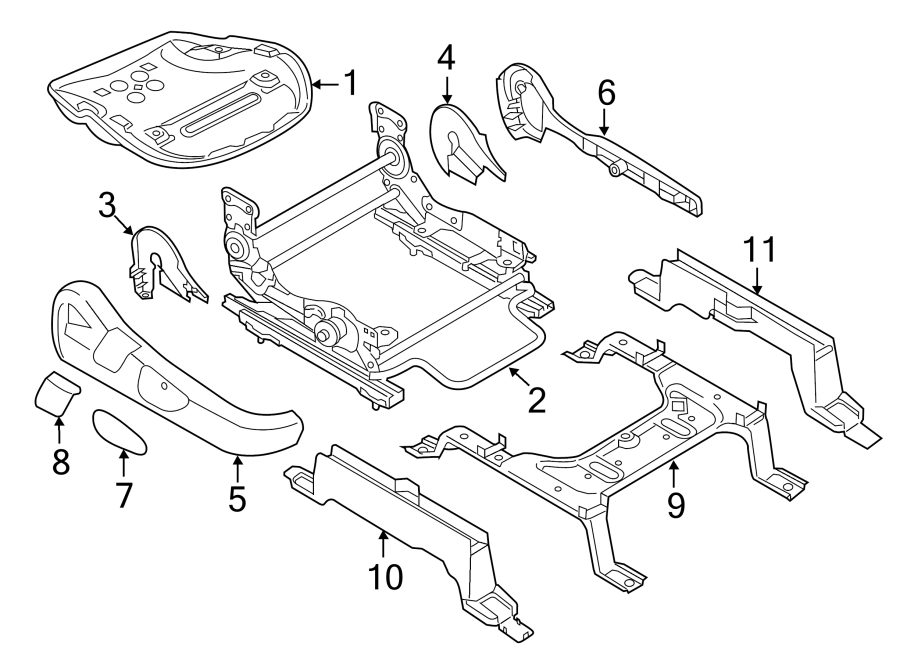 Mazda CX-9 Seat Adjuster (Right, Front). PASSENGER SIDE
