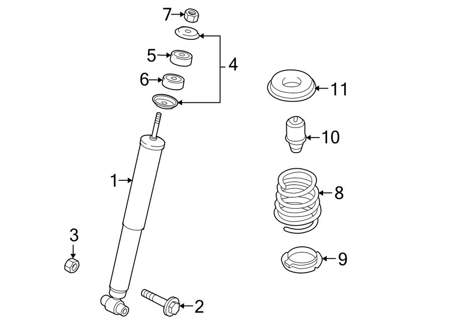 Mazda CX-9 Shock Absorber. CX-9; AWD; From 3/1/13. W/AWD