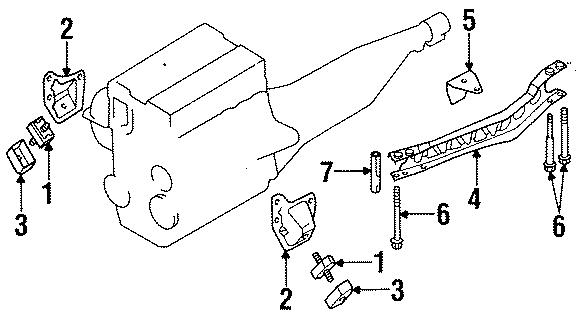Mazda MIATA Manual Transmission Mount Bracket. Manual