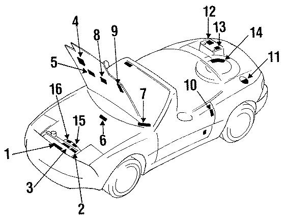 Mazda MIATA Emission Label. LABEL, EMISSION. All. LABELS