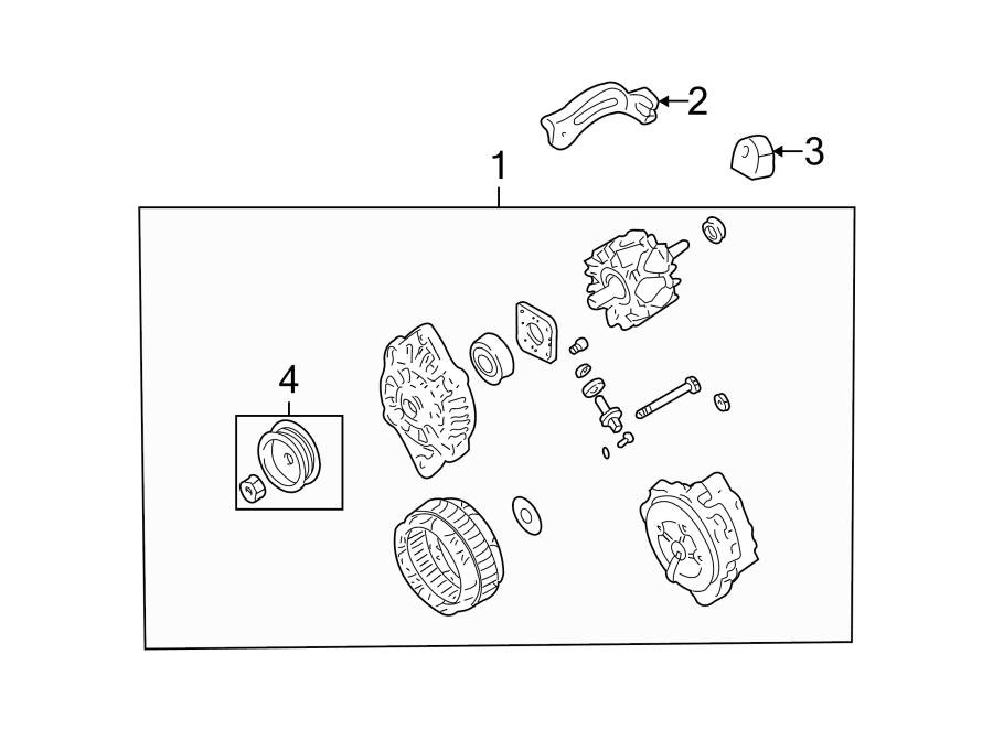 Mazda MIATA Alternator Pulley. Telematics, Lighting