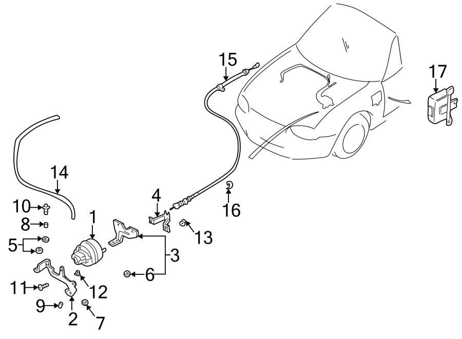 Mazda MIATA Cruise Control Actuator Nut. FILTER, FUEL