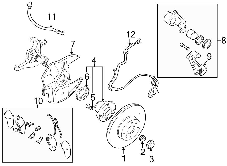 Mazda MIATA Brake Dust Shield. W/sport susp. SUSPENSION