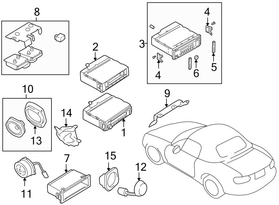 Mazda MIATA Radio Amplifier. SYSTEM, SOUND, PANEL