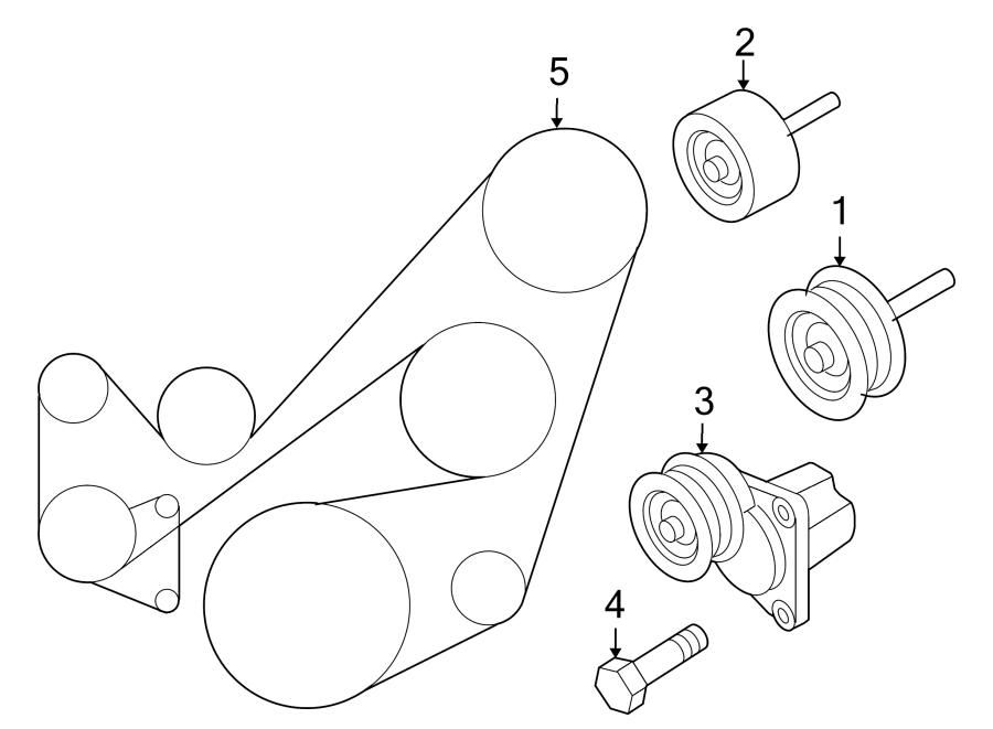 Mazda MX-5 Miata Accessory Drive Belt Tensioner Assembly