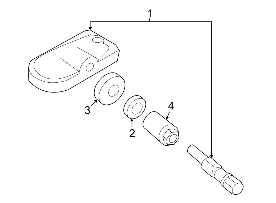 Mazda MX-5 Miata Tire Pressure Monitoring System Sensor