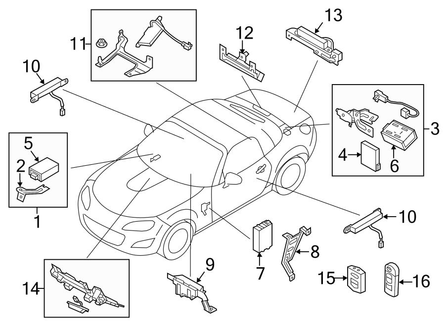Mazda RX-8 Keyless Entry Receiver. CX-7. Front. KEYLESS
