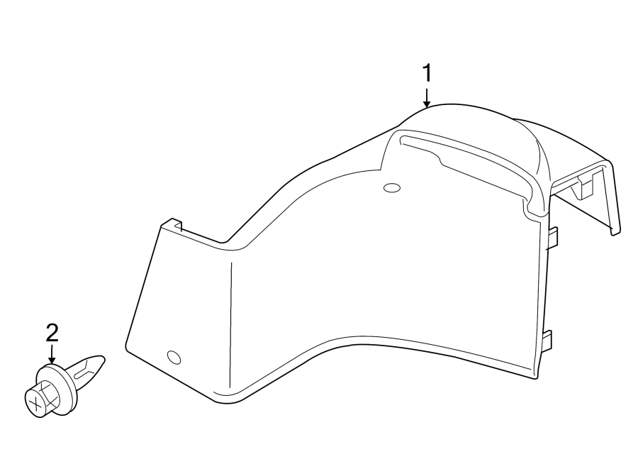 Mazda MX-5 Miata Interior Quarter Panel Trim Panel (Right