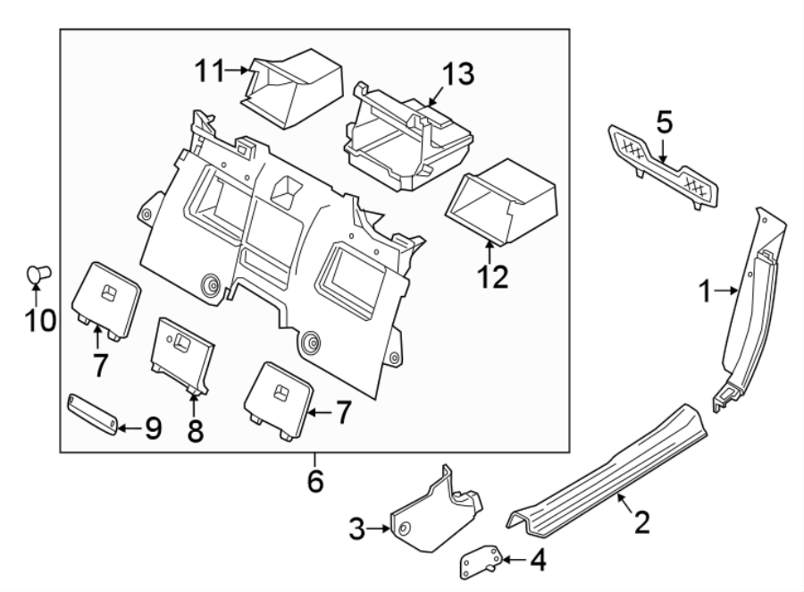 Mazda MX-5 Miata Interior Quarter Panel Trim Panel Storage