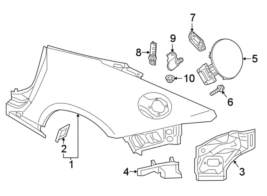 Mazda MX-5 Miata Quarter Panel Extension. W/HARD TOP. W/O