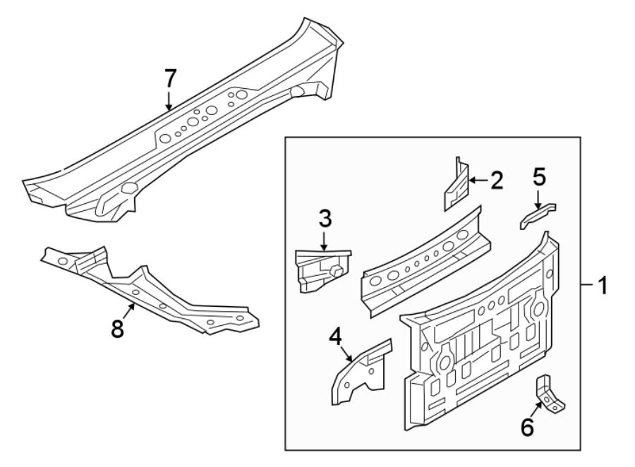 Mazda MX-5 Miata Quarter Panel Gutter. W/hard top. BODY