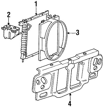 Mazda B4000 Cowling, ra. Shroud. 4.0 liter, standard