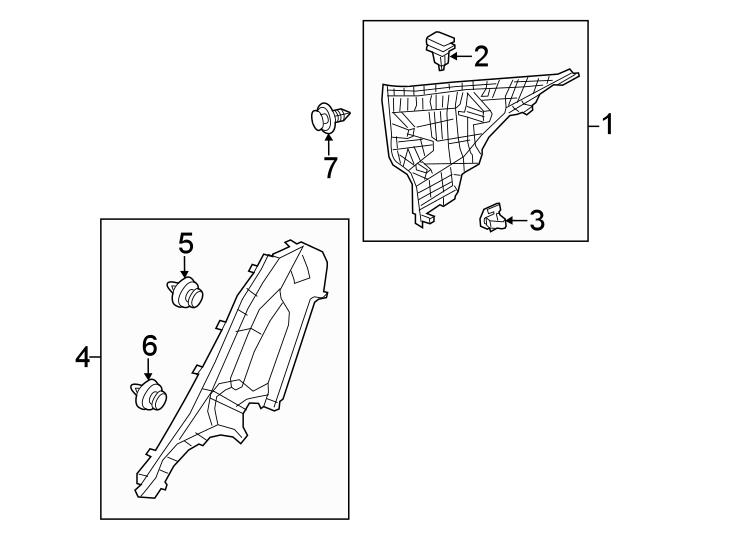 Mazda 3 Body C-Pillar Trim Panel (Left, Upper). MEXICO