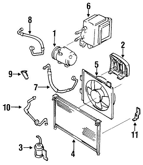 1994 Mazda 626 Compressor mount bracket. 2.0 liter. 4