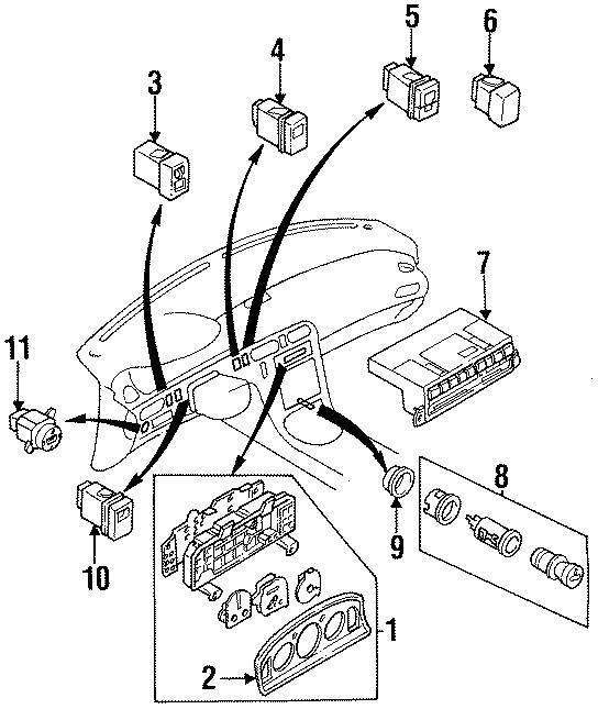 Mazda 626 Control. Heater /NLA. Dash Unit. Temperature