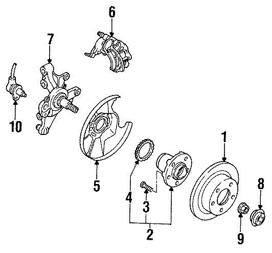 Mazda 626 Wheel Bearing and Hub Assembly. ABS, Suspension