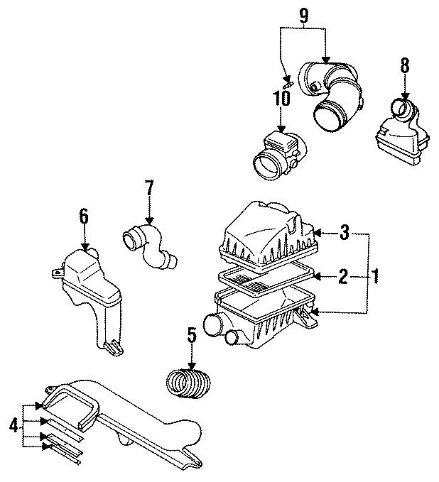 Mazda 626 Air chamber ASSEMBLY. RESONATOR. 2.0 LITER, 4