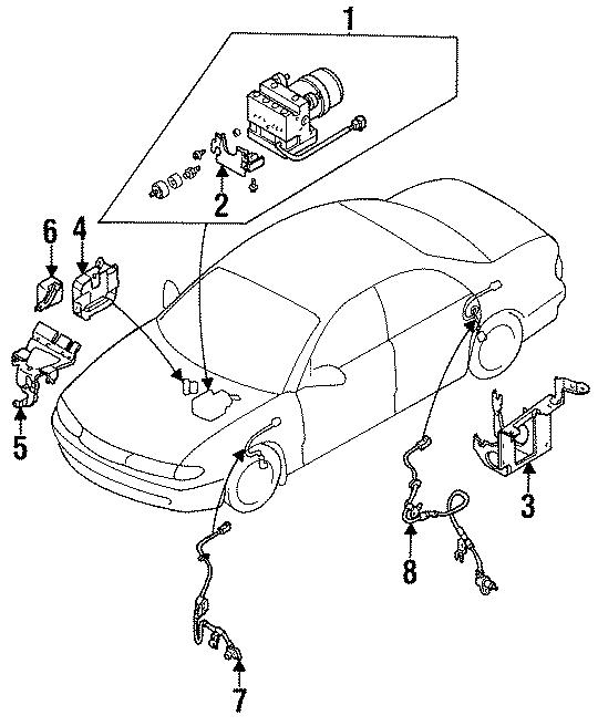 Mazda 626 Abs control module. Light, repair, warning