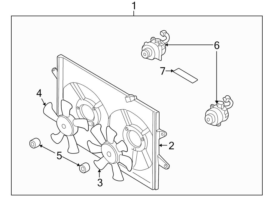 Mazda 626 Engine Cooling Fan Blade Nut. 2.0 LITER, 2000-02