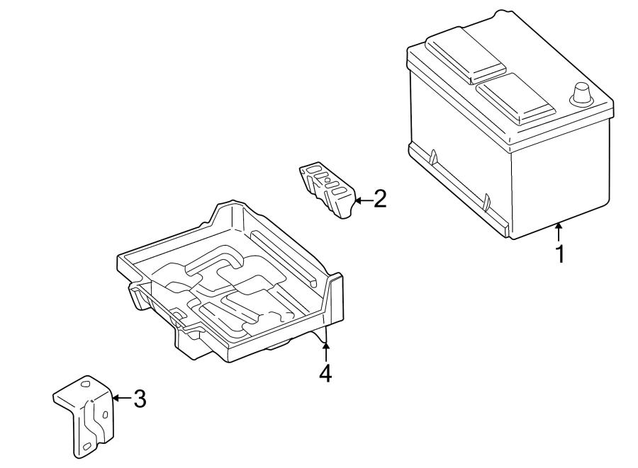 Mazda 626 Battery Tray Bracket. Telematics, Lighting, Hold