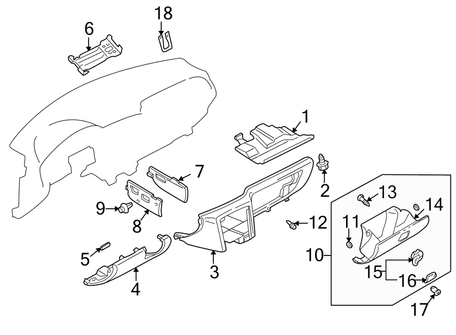 Mazda 626 Knob, glove. Included with: lock assembly. Glove