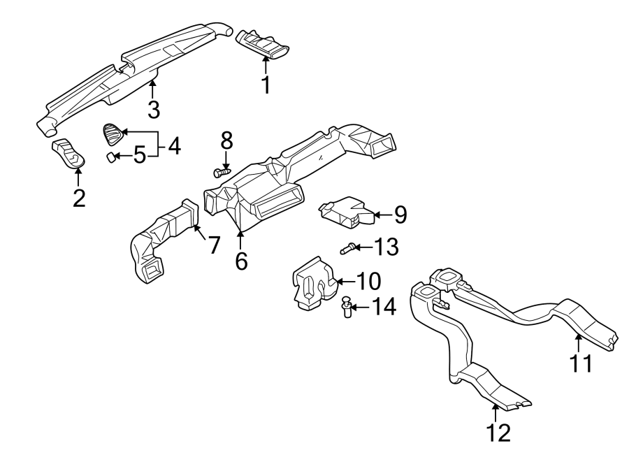 Mazda 626 Instrument Panel Air Duct (Right). Outer