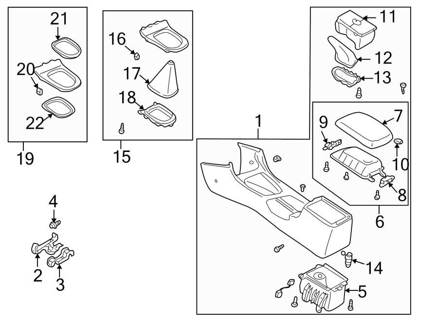 Mazda 626 Boot, chan. Manual transmission shift linkage