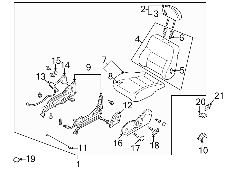 Mazda 626 Lower seat ASSEMBLY. 1998-99 MANUAL. A factory