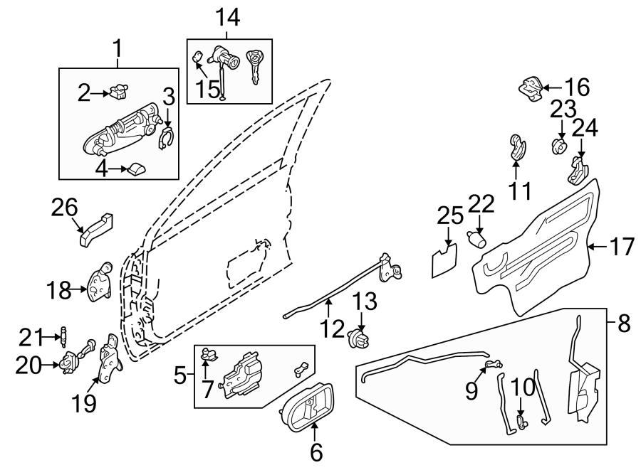 Mazda 626 Door Water Deflector. Left, Inner, Front