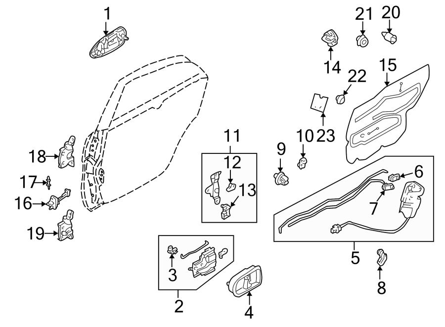 Mazda 626 Lock. Door. Actuator. Latch. 626; Left; DX Model