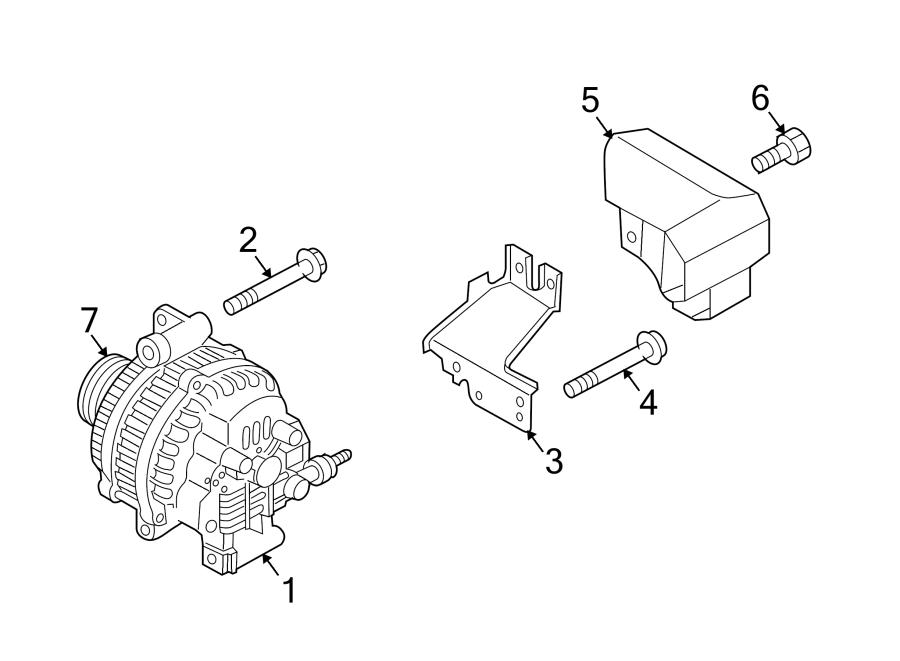 Mazda 6 Alternator Air Duct Bolt. W/O MAZDASPEED6, 2.3