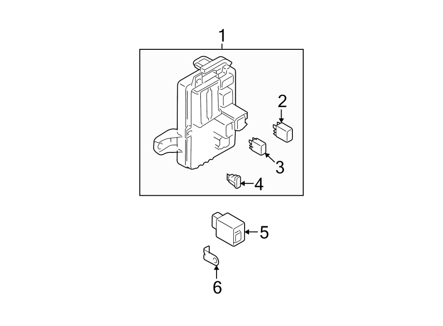 Mazda 6 Block, fuse. Fuse and relay box. Fuse box