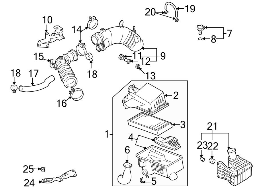 Mazda 6 Chamber, rear. Chamber, resonance. Engine air