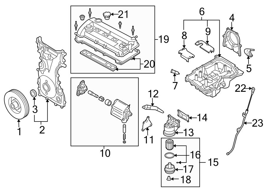Mazda 6 Engine Timing Cover. Mazda6. W/O TURBOCHARGER