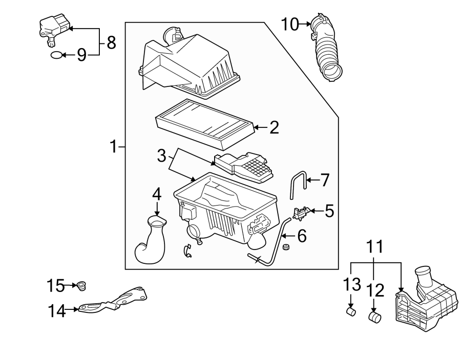 Mazda 6 Air Filter Housing. 3.0 LITER. Engine, TRANSAXLE
