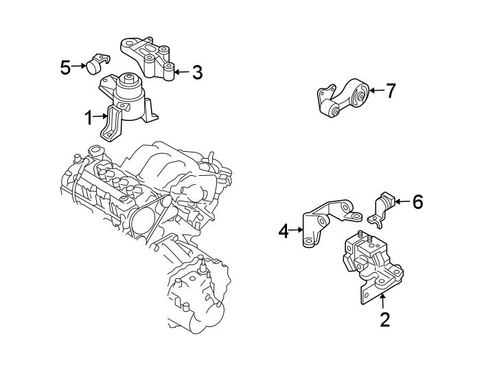 Mazda 6 Engine Mount Bracket. 3.0 LITER, AUTO TRANS. 3.0
