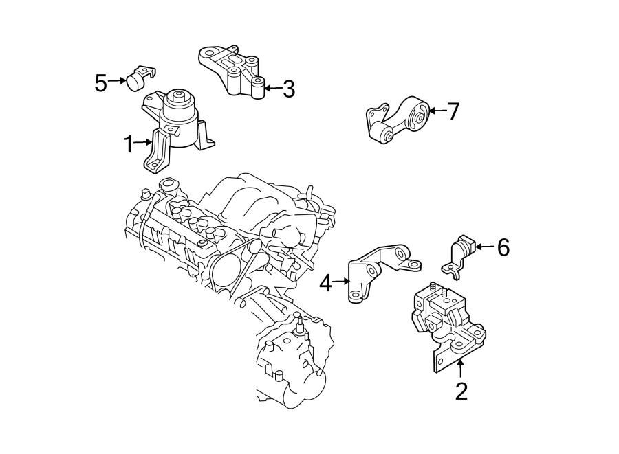 Mazda 6 Automatic Transmission Mount Bracket. 3.0 LITER