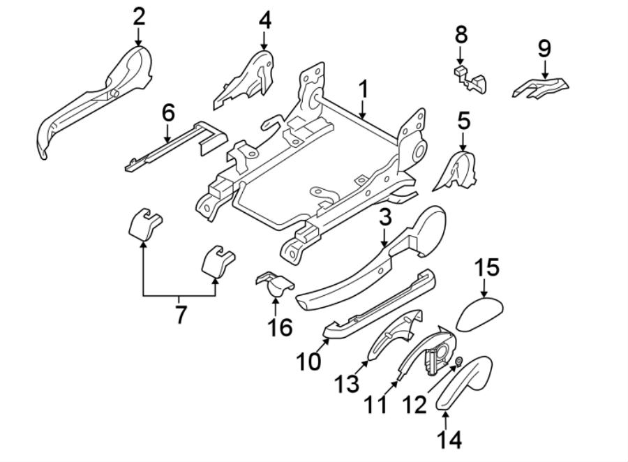 Mazda 6 Seat Back Recliner Adjustment Mechanism Cover