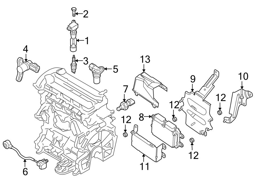 Mazda 6 Engine Control Module Bracket. 2.5 LITER