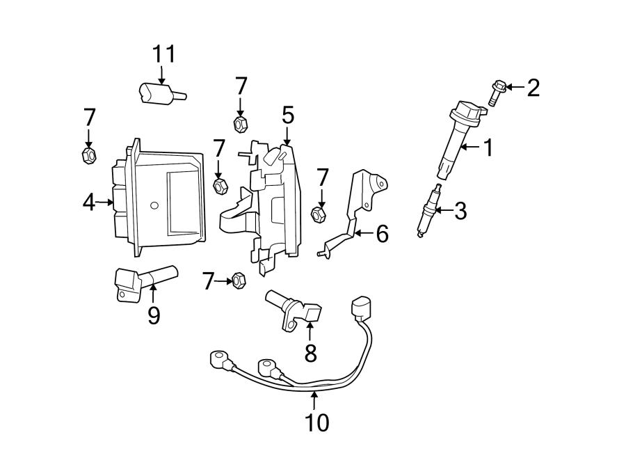 Mazda 6 Ignition Knock (Detonation) Sensor. Engine, Repair