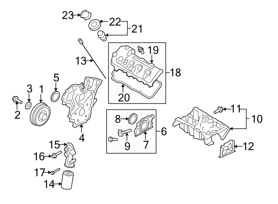 Mazda 6 Engine Crankshaft Seal. 3.7 LITER. CX-9. CX-9