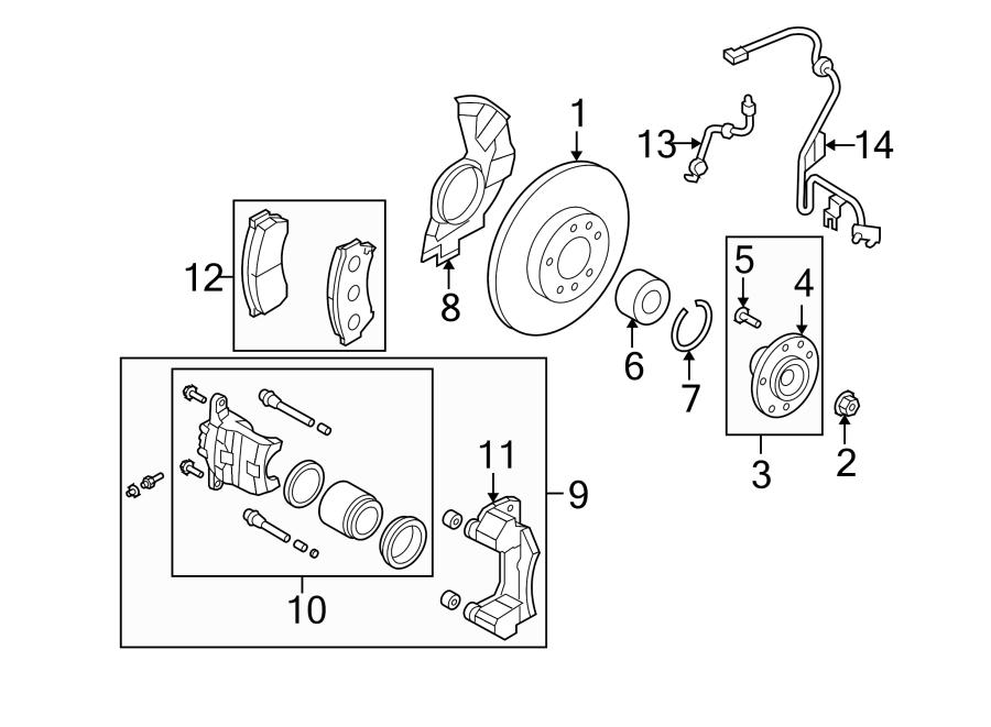 Mazda 6 Wheel Bearing. SUSPENSION, BRAKE, CONTROL