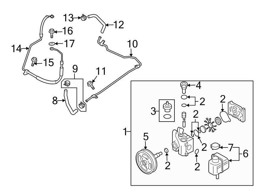 Mazda 6 Power Steering Control Valve. 2.5 LITER