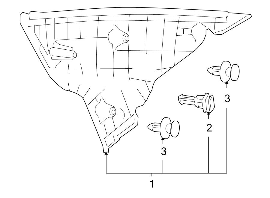 Mazda 6 Interior Quarter Panel Trim Panel. Beige. Right